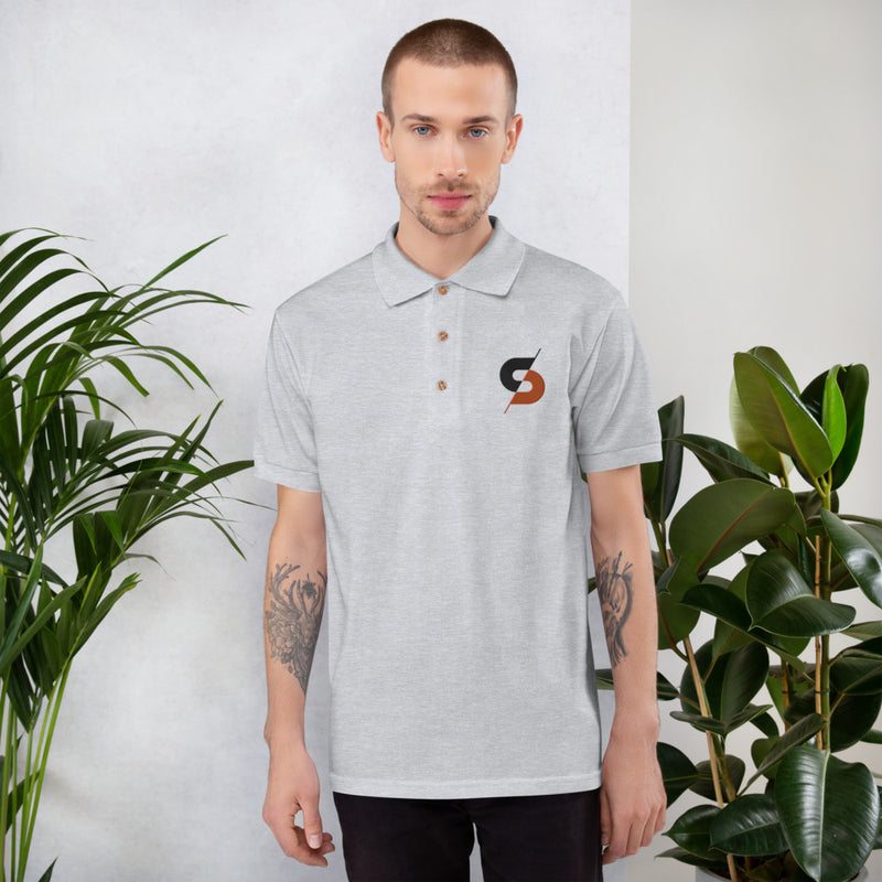Shattered Dream Designs Embroidered Polo Shirt