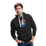 Men's Time Spiral Premium Hoodie - charcoal gray
