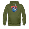 Men's Time Spiral Premium Hoodie - olive green