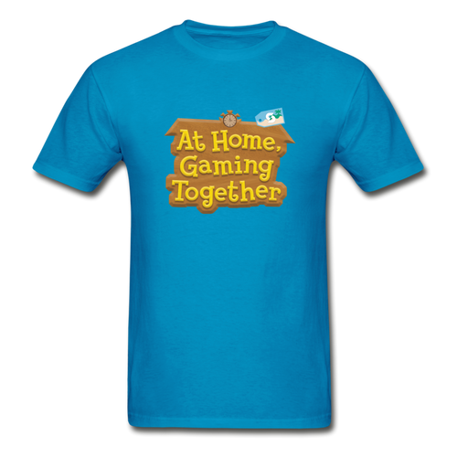 At Home Gaming Gildan Ultra Cotton Adult T-Shirt - turquoise