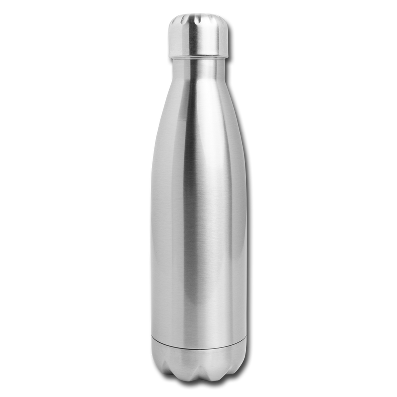 Custom Insulated Stainless Steel Water Bottle - silver