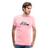 Men's S73 Color Logo T-Shirt - pink
