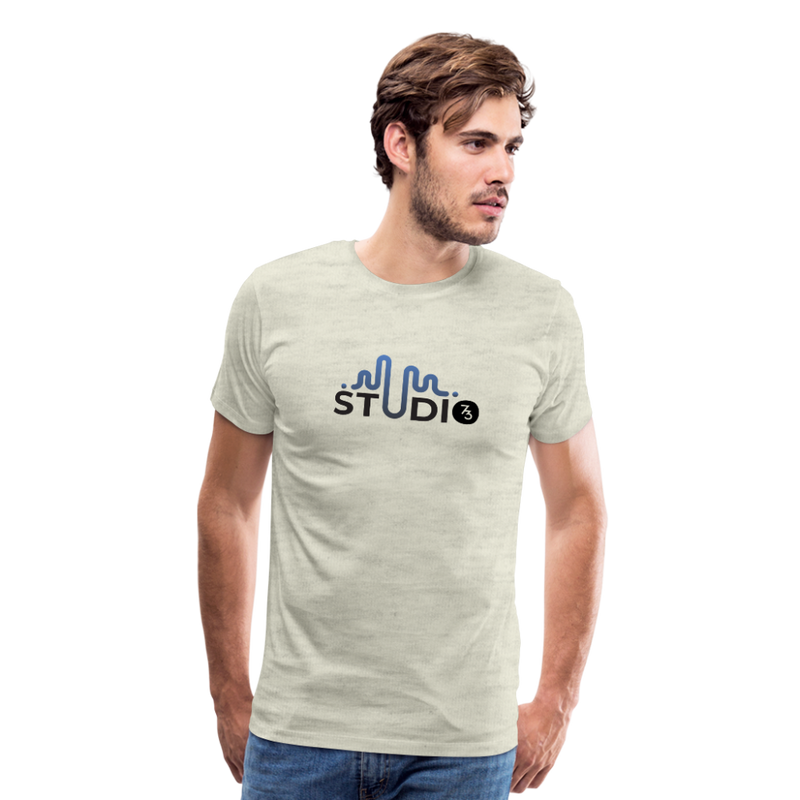 Men's S73 Color Logo T-Shirt - heather oatmeal
