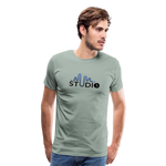 Men's S73 Color Logo T-Shirt - steel green