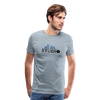 Men's S73 Color Logo T-Shirt - heather ice blue