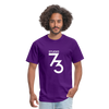 Men's Front & Back S73 White T-Shirt - purple