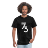 Men's Front & Back S73 White T-Shirt - black