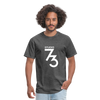 Men's Front & Back S73 White T-Shirt - heather black