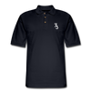 Men's S73 White Logo Pique Polo Shirt - midnight navy