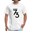 Men's Front & Back S73 Black Logo T-Shirt - white