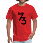 Men's Front & Back S73 Black Logo T-Shirt - red