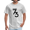 Men's Front & Back S73 Black Logo T-Shirt - heather gray
