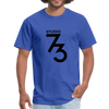 Men's Front & Back S73 Black Logo T-Shirt - royal blue
