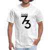 Men's Front & Back S73 Black Logo T-Shirt - light heather gray