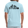 Men's Front & Back S73 Black Logo T-Shirt - powder blue