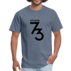 Men's Front & Back S73 Black Logo T-Shirt - denim