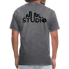 Men's Front & Back S73 Black Logo T-Shirt - mineral charcoal gray