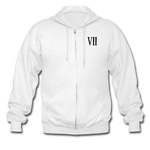 Final Fantasy VII Tribute Heavy Blend Zip Hoodie - white