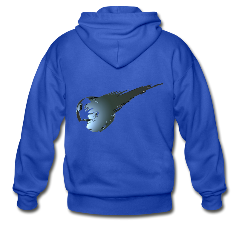 Final Fantasy VII Tribute Heavy Blend Zip Hoodie - royal blue