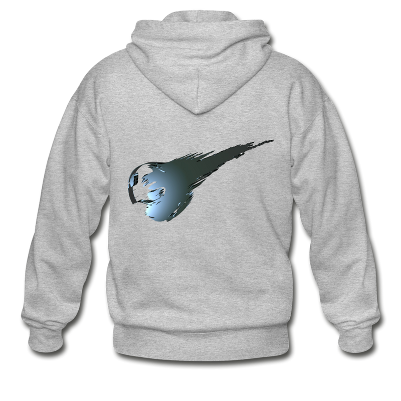 Final Fantasy VII Tribute Heavy Blend Zip Hoodie - heather gray