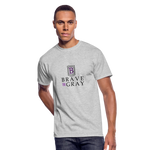 Brave The Gray Men's 50/50 Tee - heather gray
