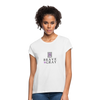 Brave The Gray Women's Relaxed Fit Tee - white