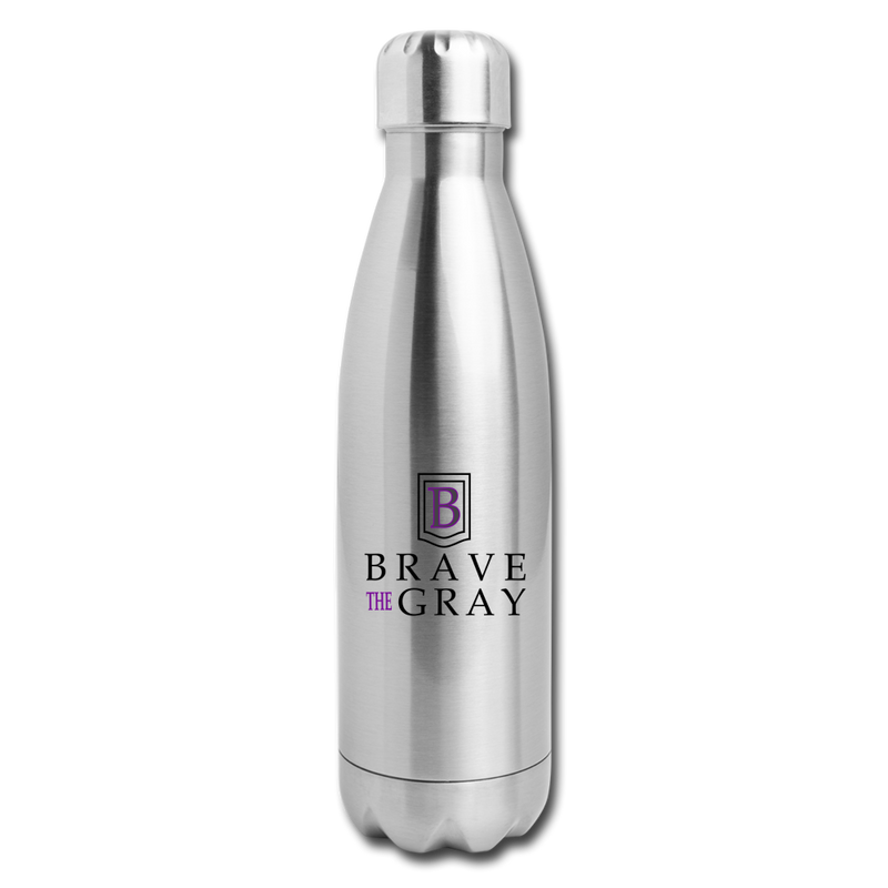 Brave The Gray Insulated Stainless Steel Water Bottle - silver