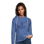 Brave The Gray Unisex Lightweight Terry Hoodie - heather Blue