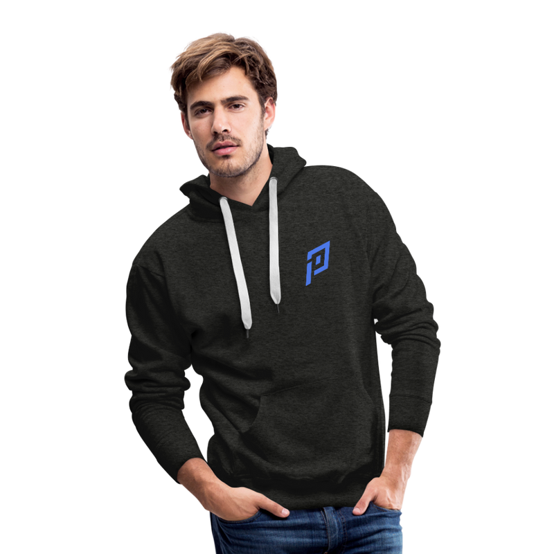 Pruhvail Men's (Blue Logo) Premium Hoodie - charcoal gray