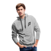 Pruhvail Men's (Black Logo) Premium Hoodie - heather gray