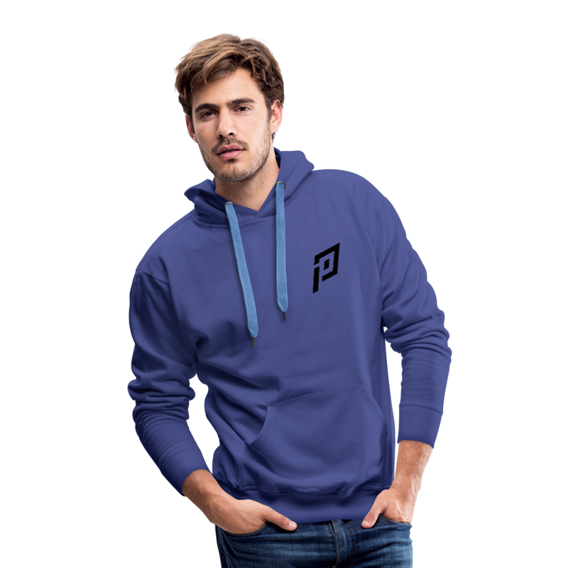 Pruhvail Men's (Black Logo) Premium Hoodie - royalblue