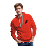Pruhvail Men's (Black Logo) Premium Hoodie - red