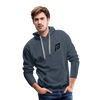 Pruhvail Men's (Black Logo) Premium Hoodie - heather denim