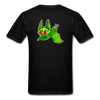 Pompadorable: Art by Ally Cat - Green Batty Double-Sided Tee - black
