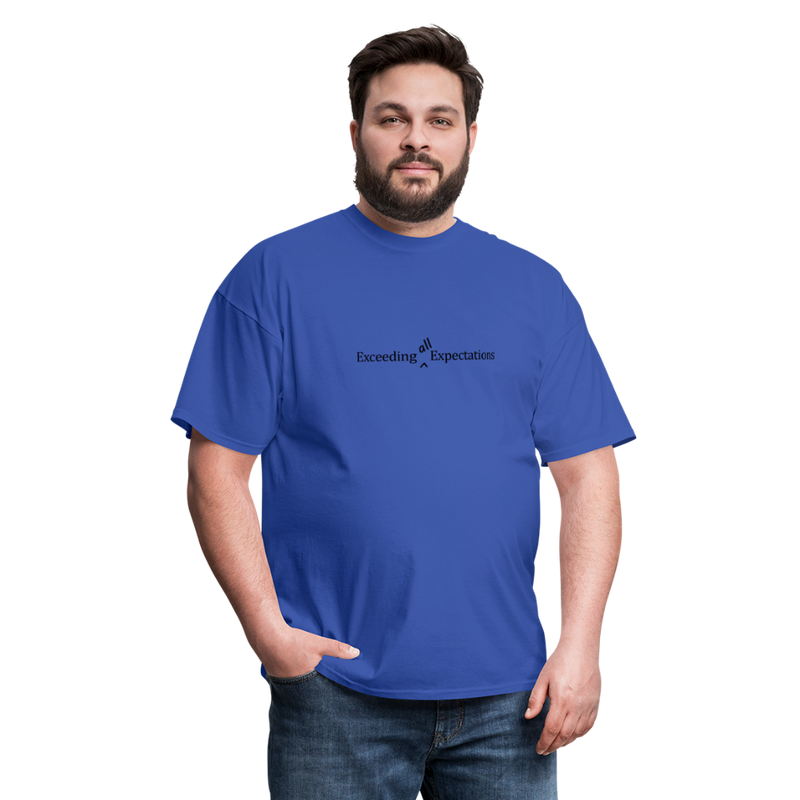 Exceeding All Expectations Unisex Classic Tee (Black Logo) - royal blue