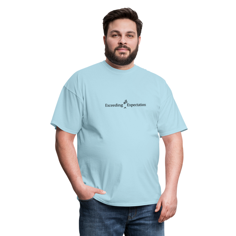Exceeding All Expectations Unisex Classic Tee (Black Logo) - powder blue