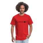 Positive Intent Unisex Classic Tee (Black Logo) - red