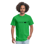 Positive Intent Unisex Classic Tee (Black Logo) - bright green