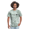 Positive Intent Unisex Classic Tee (Black Logo) - military green tie dye