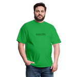 Syncing vs Backup Unisex Classic Tee (Black Logo) - bright green