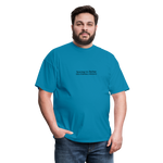 Syncing vs Backup Unisex Classic Tee (Black Logo) - turquoise