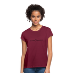 Exceeding All Expectations Women's Relaxed Fit Tee (Black Logo) - burgundy