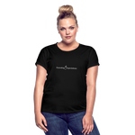Exceeding All Expectations Women's Relaxed Fit Tee (White Logo) - black