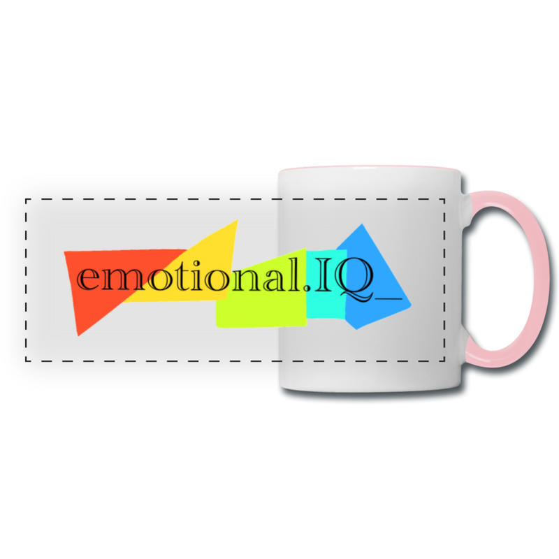 Emotional IQ Panoramic Mug - white/pink