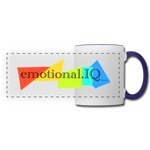 Emotional IQ Panoramic Mug - white/cobalt blue