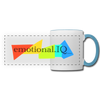 Emotional IQ Panoramic Mug - white/light blue