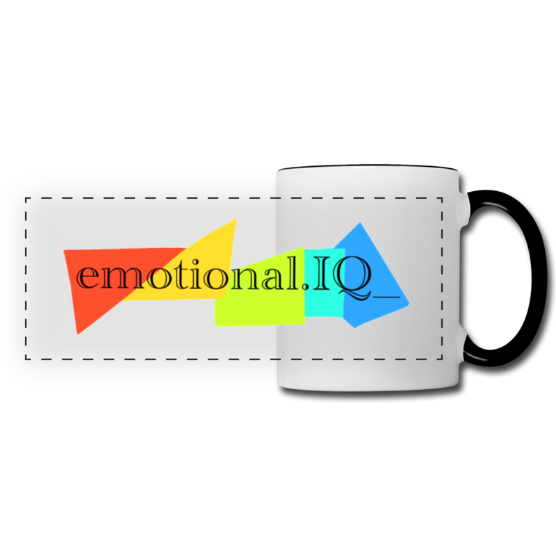 Emotional IQ Panoramic Mug - white/black
