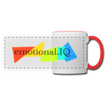Emotional IQ Panoramic Mug - white/red