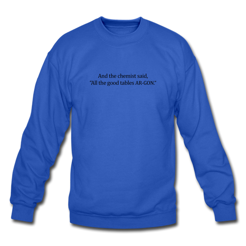 Argon Chemist Crewneck Sweatshirt - royal blue