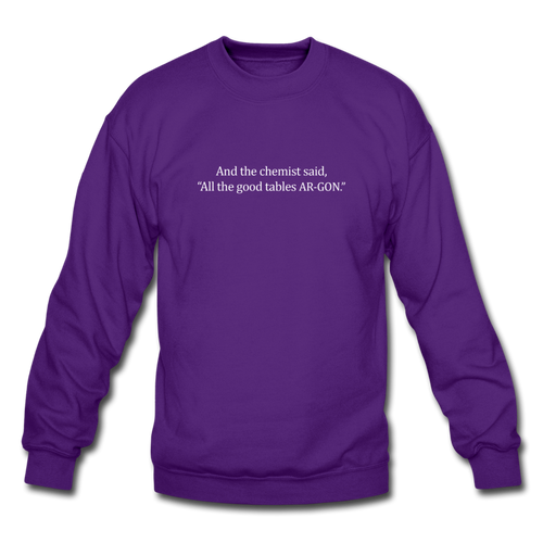 Argon Chemist Crewneck Sweatshirt - purple
